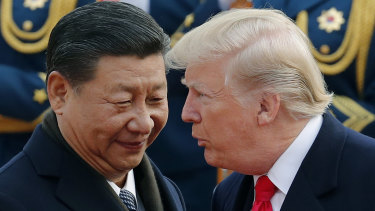 President Donald Trump and China's leader, Xi Jinping. The ongoing US-China spat leaves HSBC exposed.