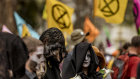 An Extinction Rebellion protests in Melbourne on Sunday. The movement has become global.