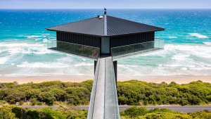 Always the money shot: Victoria's Pole House was built in 2013.