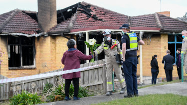 Man suffers serious burns after trying to save a young child caught in house fire