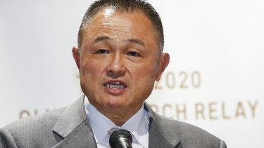 Japanese Olympic Committee President Yasuhiro Yamashita.