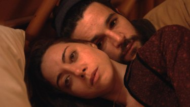 Aubrey Plaza and Christopher Abbott in Black Bear, set in a writers' retreat.