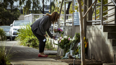 People were paying their respects on Thursday morning.