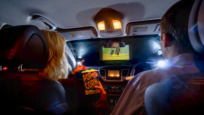Australia's drive-ins have the chance to shine, even in pouring rain
