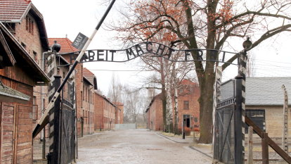 The gates to Auschwitz-Birkenau concentration camp.