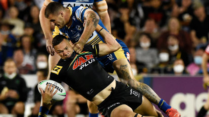 Penrith win arm-wrestle with Eels but deadly Storm is on the radar