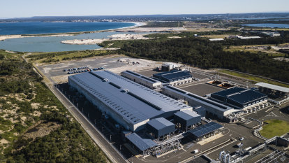 The Sydney Desalination Plant in Kurnell, which was reactivated in January after dam levels dropped below 60%, on May 30, 2019.