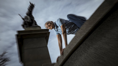 At 82, Arlene has just started learning parkour