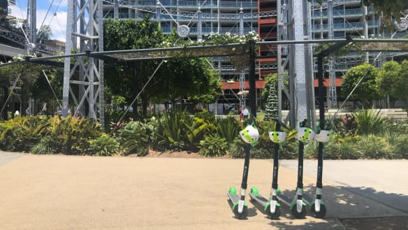 Hundreds of electric scooters appear on Brisbane streets