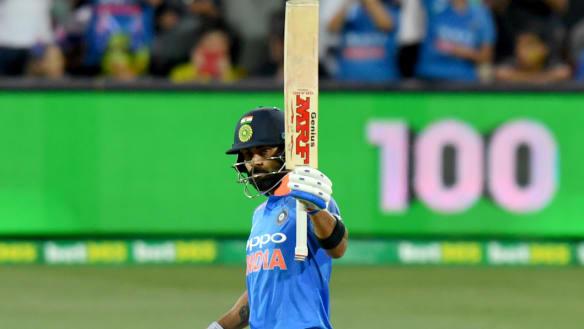 King Kohli's 39th ODI ton leads India to victory