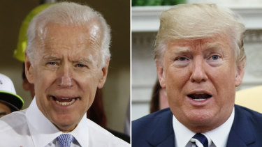 US presidential hopeful Joe Biden and President Donald Trump.
