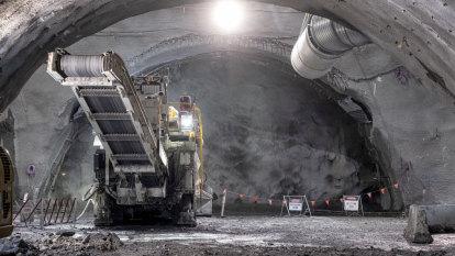 Metro Tunnel's big borings meet up, 11-storeys beneath the city