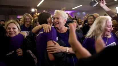 'I won't let you down', says triumphant Kerryn Phelps