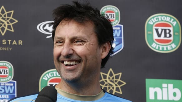 Canberra connection: Former NSW coach Laurie Daley and Wests Tigers coach Michael Maguire go way back.