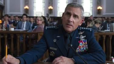 Steve Carell plays General Mark Naird in satire Space Force.