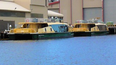 Two of the new River Class ferries.