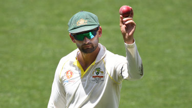 Shining light: Nathan Lyon claimed six wickets in the second innings as India capitulated.