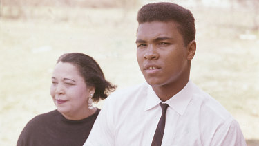 The Cassius Clay, Muhammad Ali,  with his mother, Odessa Grady Clay in 1963.