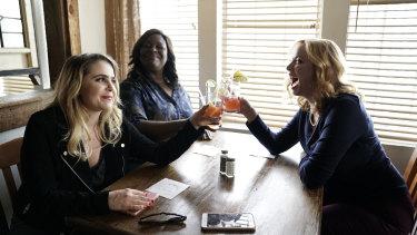 Mae Whitman, Retta and Christina Hendricks star in Good Girls.