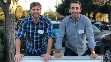 Zack Abbott (left) and Stephen Lamb from ZBiotics.