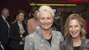 Kerryn Phelps, here with Jackie Stricker-Phelps in October, wants the City of Sydney to fix lamp posts near her home.