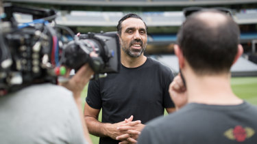 Adam Goodes in a second documentary about his career and race relations titled The Australian Dream.