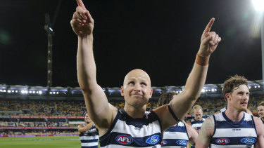 Cooking with Gaz: The farewell tour marches on for Geelong veteran Gary Ablett.