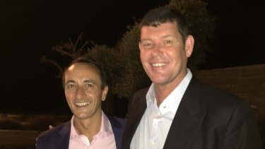 Former Australian ambassador to Israel Dave Sharma andJames Packer.