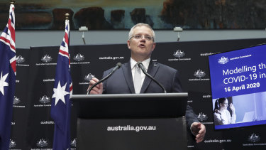 "Prime Minister Scott Morrison says COVID-19 will hit the Australian economy ""like a truck""."