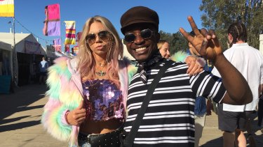 Tayla Crowther, 24, and Cyril Quaynor, 25, spent hundreds of dollars on their festival outfits.