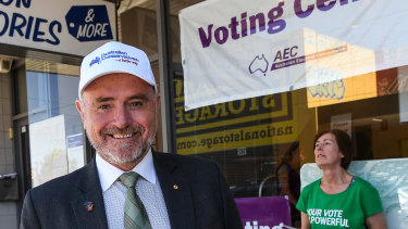 Kevin Bailey on the campaign trail last year. The Conservative politician is also a former top 20 shareholder in IOOF.