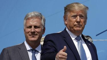 Robert O'Brien, left, with President Donald Trump last year.