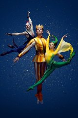 Brett Chynoweth, Callum Linnane and Serena Graham in The Happy Prince.
