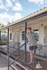 Tigers fan Shane Bennett in quarantine in Darwin.