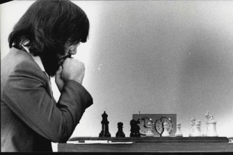 Ian Rogers playing in the Australian Chess Championships in 1986.