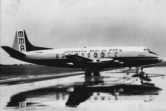 The MacRobertson Miller Viscount 700 that crashed near Port Hedland.