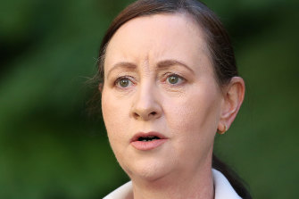 Health Minister Yvette D'Ath has criticised the federal government's allocation of coronavirus vaccines to the state.