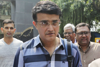President-elect Sourav Ganguly at BCCI headquarters in Mumbai, India.