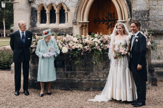 Princess Beatrice chose a vintage gown on loan from the Queen for her wedding to Edoardo Mapelli.