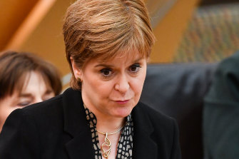 Scotland's First Minister Nicola Sturgeon.