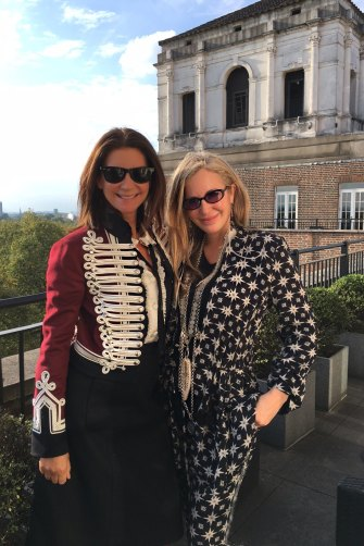 Net-a-Porter founder Natalie Massenet (left) and Carmen Busquets.