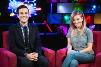 Steven 'Bajo' O'Donnell and Stephanie 'Hex' Bendixsen, former co-presenters of the ABC2 show Good Game.
