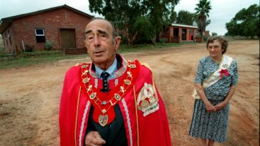 Prince Leonard Casley and his wife Princess Shirley of Hutt River Province.