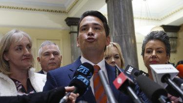 New Zealand Opposition Leader Simon Bridges.