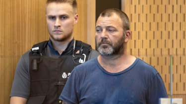 Philip Arps, in the dock at the District Court in Christchurch, has pleaded guilty to sharing a livestream video of the attack recorded by the gunman.