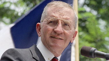Ross Perot during his Presidential campaign in 1992.