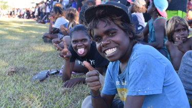 Footy is a religion in the Barunga community.