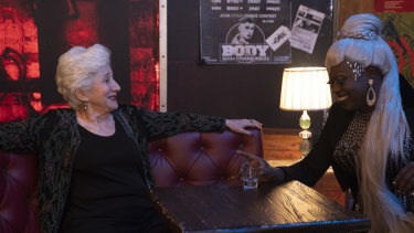 Olympia Dukakis (Anna Madrigal) and Caldwell Tidicue (burlesque club manager Ida Best):  'The hunger for a Bohemian life still exists.'