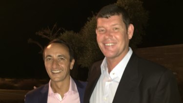 Former Australian ambassador to Israel Dave Sharma and James Packer.