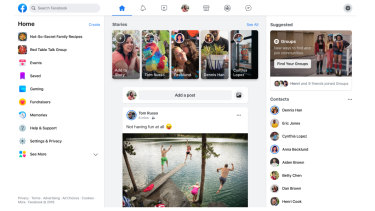Facebook's new desktop design takes the focus off public News Feed posts.